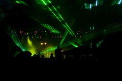 laseru przyjęcie zdjęcia stock