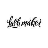 Lash Typography Square Poster Lettrage de vecteur Expression de calligraphie pour des cartes cadeaux Image libre de droits