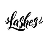 Lash Typography Square Poster. Vector lettering. Calligraphy phrase for gift cards, scrapbooking, beauty blogs. Lashes Typography Square Poster. Vector lettering Stock Image