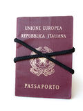 Lashed passport Royalty Free Stock Image