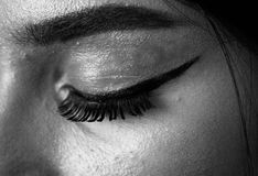 Lashesss!!!. When the Eye meet with the Lashes Stock Images