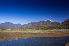 Lashihai sjö, Kina Royaltyfria Bilder