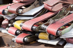 Lashing cargo straps Royalty Free Stock Photos