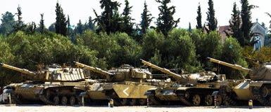 Lashiryon, herdenkingsplaats voor de gevallen Israëlische militairen van de Gepantserde Korpsen Latrun, Israël stock foto