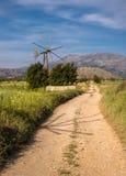 Lasithi-Hochebenen-Ackerland in Kreta, Griechenland Stockbild