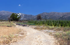 Lasithi plateau at Crete Stock Photography
