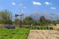 Lasithi plateau at Crete, Greece Stock Image