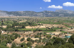 Lasithi plateau at Crete, Greece Stock Photo