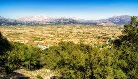 Lasithi plateau in Crete, Greece Royalty Free Stock Photo