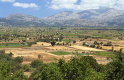 Lasithi plateau at Crete island Stock Photography