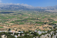 Lasithi plateau at Crete island Royalty Free Stock Image
