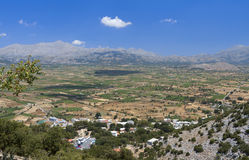 Lasithi plateau at Crete island, Greece Royalty Free Stock Photography