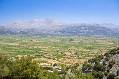 Lasithi plateau on the island of Crete in Greece. Royalty Free Stock Photo