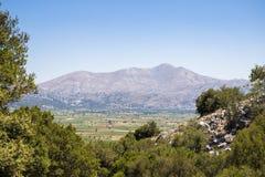 Lasithi plateau on the island of Crete in Greece. Stock Image