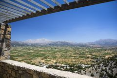 Lasithi plateau on the island of Crete in Greece. Stock Photos