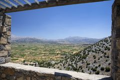 Lasithi plateau on the island of Crete in Greece. Royalty Free Stock Image