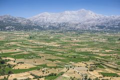 Lasithi plateau on the island of Crete in Greece. Royalty Free Stock Photography