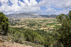 Lasithi plateau on the island of Crete in Greece. Royalty Free Stock Photos