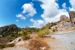 Lasithi Plateau Road Stock Images