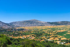 Lasiti plato. Fertile fields of Lasiti plato. Crete, Greece Royalty Free Stock Images