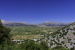 Lasiti plato. View from Dikti mountain. Crete, Greece Royalty Free Stock Photo