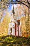 Laska教堂-小温泉城市在西部波希米亚- Marianske Lazne Marienbad -捷克 库存照片
