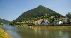 Lasko stad, Slovenien Arkivbild