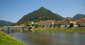 Lasko-Stadt, Slowenien Lizenzfreie Stockbilder