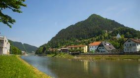 Lasko-Stadt, Slowenien Stockfotografie