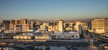 LasLas Vegas, Nevada/USA - April 2015.    Vegas Skyline Panarama Stock Photo