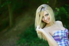lasowa dziewczyna Obrazy Royalty Free