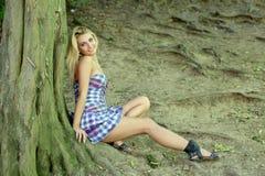 lasowa dziewczyna Zdjęcie Stock