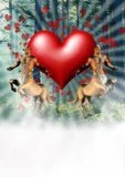 lasowa miłość Obrazy Stock
