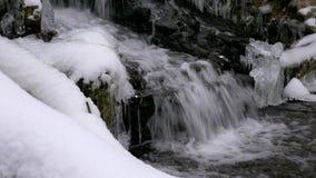 Lasowa siklawa w zimie zbiory