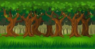 Lasowa tło panorama royalty ilustracja