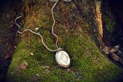 Lasowa tajemnica i medalion Fotografia Royalty Free