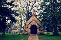 Lasowa wzgórze cmentarza kaplica zdjęcie royalty free