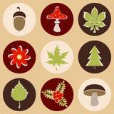 Lasowe ikony ilustracja wektor