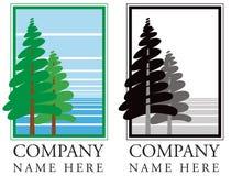 Lasowego drzewa logo royalty ilustracja