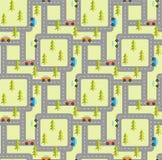 Lasowej drogi bezszwowy wzór Zdjęcia Royalty Free