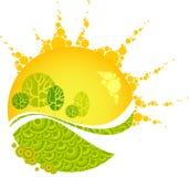 lasowej zieleni zmierzchu kolor żółty Fotografia Royalty Free