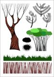 lasowi inkasowi kreatywnie elementy ilustracji