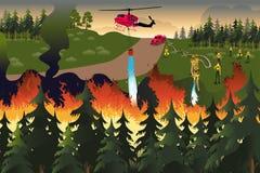 Lasowi strażacy Fotografia Royalty Free