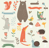 Lasowi zwierzęta Fotografia Stock