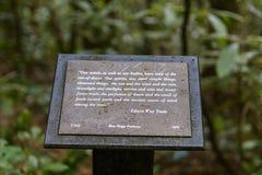 Lasowy docenienie znak obraz stock