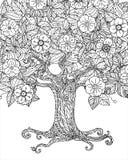 Lasowy drzewo odizolowywający Zdjęcie Royalty Free