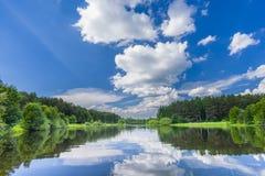 Lasowy jezioro Obrazy Royalty Free