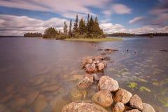 Lasowy jezioro w Algonquin prowincjonału parku, Ontario, Kanada Zdjęcia Royalty Free