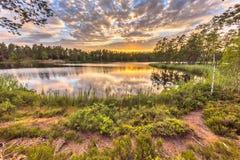 Lasowy jezioro w Hokensas rezerwacie przyrody Obraz Royalty Free