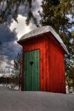 lasowy outhouse Zdjęcia Royalty Free